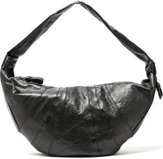Lemaire Maxi Croissant Coated Linen Shoulder Bag - Womens - Dark Green