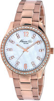 Kenneth Cole New York Watch, Women's Rose Gold Ion-Plated Stainless Steel Bracelet 39mm KC4895