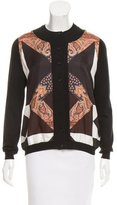 Givenchy Silk-Accented Wool Cardigan