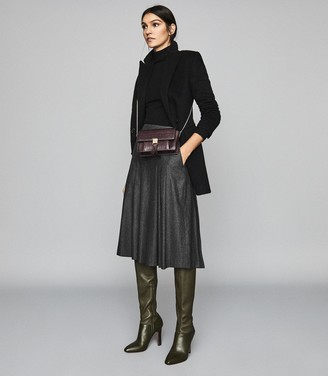 Reiss Carson - Pleated Culottes in Charcoal