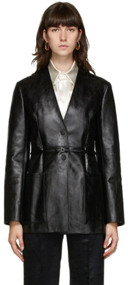 Jil Sander Black Leather Nessa Jacket