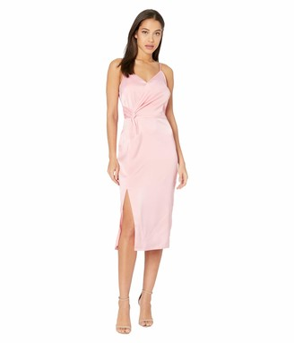 Cupcakes And Cashmere Women's Aquila Satin Wrap Dress with Slit