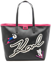 Karl Lagerfeld Women's Ski Holiday Shopper Bag Black