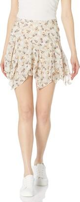 Charlotte Ronson Women's Ruffle Hem Skirt