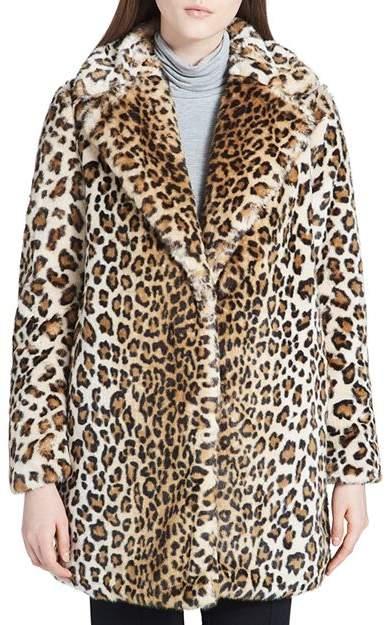 a8dc8dfce2 Faux-Fur Leopard Coat