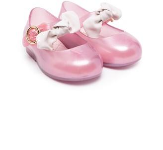 Mini Melissa Bow-Detail Jelly Ballerinas