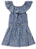 Splendid Toddler's, Little Girl's & Girl's Bow-Accented Line & Dot-Print Dress