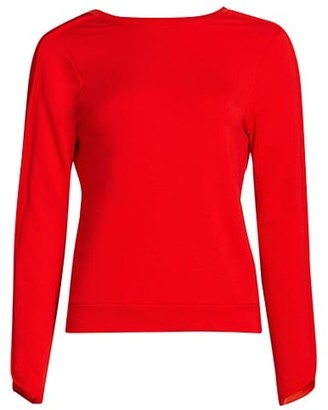 Splits59 Reese Fleece Cropped Knit Sweater