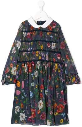 Gucci Kids floral print pleated dress