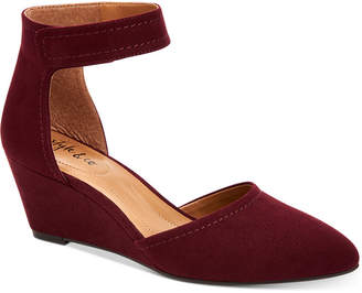 Style&Co. Style & Co Yarah Two-Piece Wedge Pumps, Women Shoes