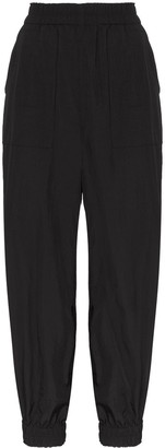 Ganni High-Waisted Tapered Trousers