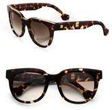 Balenciaga 52MM Acetate & Metal Square Sunglasses