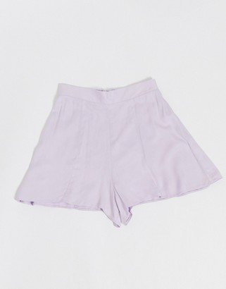 ASOS DESIGN soft 3 piece suit shorts in dusty lilac