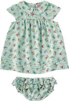 Cath Kidston Dancing Kittens Baby Pin Tuck Dress with Briefs
