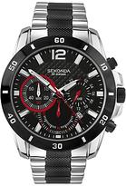 Sekonda 3420.27 Sports Chronograph Bracelet Strap Watch, Silver/black