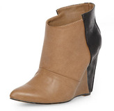 Dorothy Perkins Nude/black wedge ankle boots