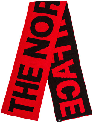 The North Face Logo Scarf in TNF Red & TNF Black | FWRD