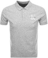 Calvin Klein Padd Polo T Shirt Grey