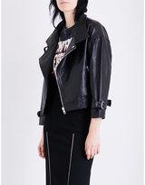 Maje Beline leather biker jacket