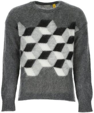 MONCLER GENIUS Moncler X Fragment Hiroshi Fujiwara Geometric Motif Sweater