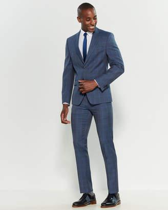 Michael Kors Two-Piece Blue Windowpane Plaid Suit