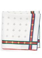 Gucci Men's Runebis Silk Twill Pocket Square