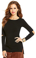 Gianni Bini Cadence Scoop Neck Long Sleeve Cut-Out Knit Top