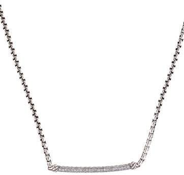 David Yurman Petite Pavé Diamond Metro Chain Necklace