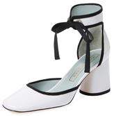 Marc Jacobs Elle Patent Leather Ankle-Wrap Pump