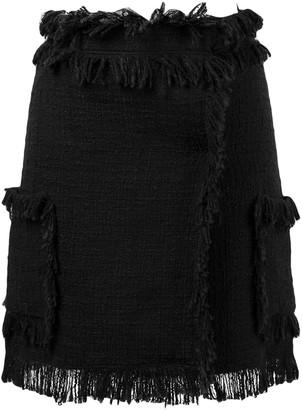 MSGM Fringe-Hem Mini Skirt