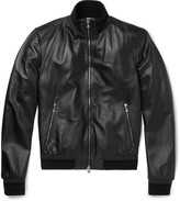 Dolce & Gabbana - Slim-fit Leather Jacket