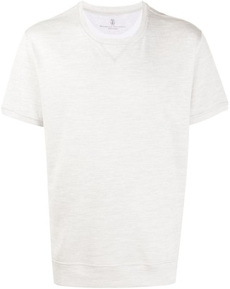 Brunello Cucinelli Short-Sleeve Swearshirt