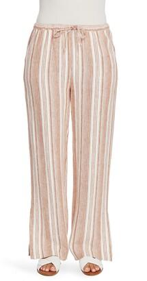 Chaus Linen Stripe Pants