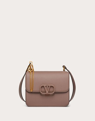 Valentino Vsling Grainy Calfskin Shoulder Bag Women Clay 100% Pelle Di Vitello - Bos Taurus OneSize