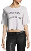 Monrow Cropped California Sweatshirt