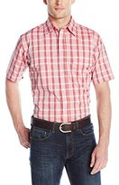 Wrangler Men's Wrinkle Resist Western Short Sleeve Woven Shirt