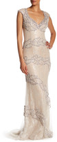 Terani Couture Embellished Sheer Illusion Gown