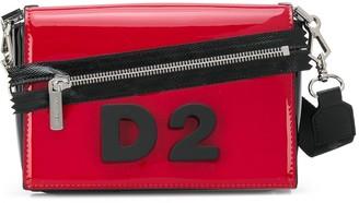 DSQUARED2 D2 plaque shoulder bag