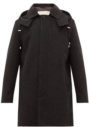 MACKINTOSH Detachable Hood Wool Parka - Mens - Black