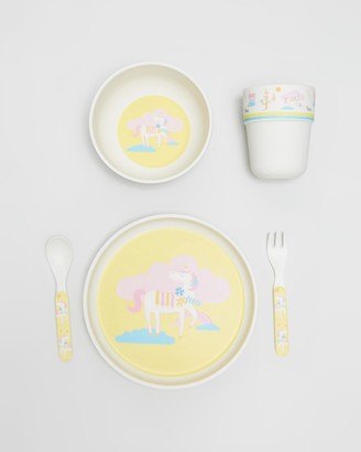 Penny Scallan - Girl's Yellow Home - Bamboo Meal Set with Cutlery - Size One Size at The Iconic
