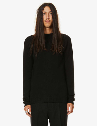 Rick Owens Crew-neck cashmere and wool-blend jumper