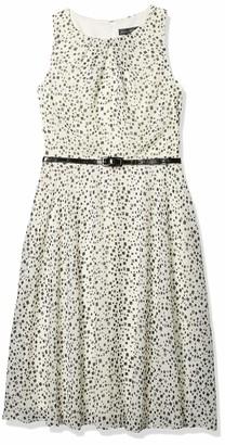 Jessica Howard JessicaHoward Women's Polka Dot Belted Dress