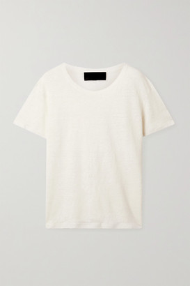 Nili Lotan Irving Linen T-shirt - Cream