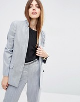 Asos Premium Edge to Edge Blazer in Linen Look Yarn