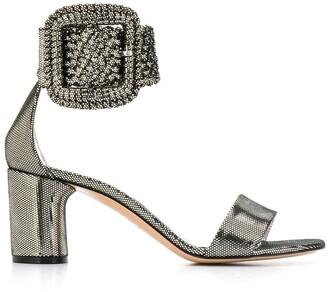 Casadei Metallic Buckle Sandals