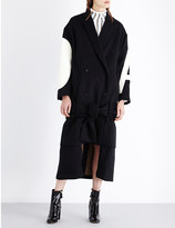 Aalto Appliquéd wool and cashmere-blend coat