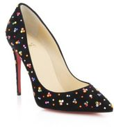 Christian Louboutin Pigalle Follies 100 Crystal & Suede Pumps