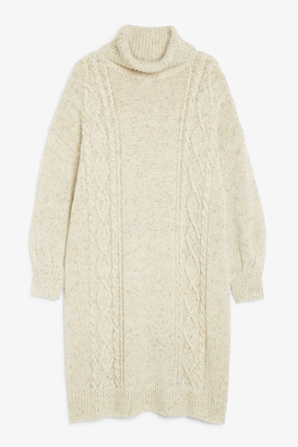Monki Long cable knit dress