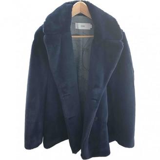 Closed Blue Faux fur Jacket for Women