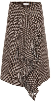 Balenciaga Checked wool skirt